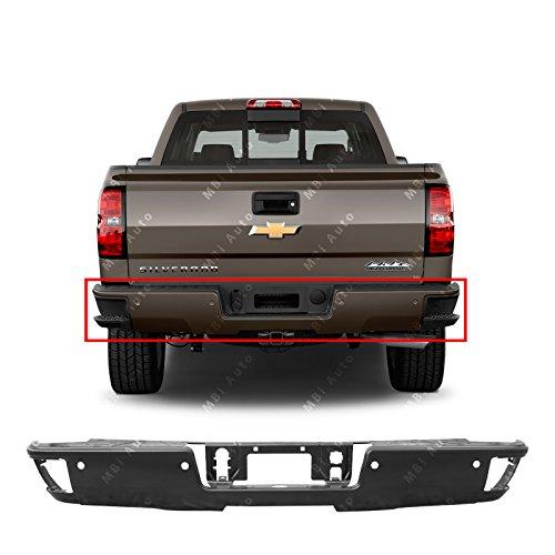 MBI AUTO - Primered, Steel Rear Bumper Face Bar for 2014-2019 Chevy Silverado & GMC Sierra W/Corner Step 14-19, GM1102563