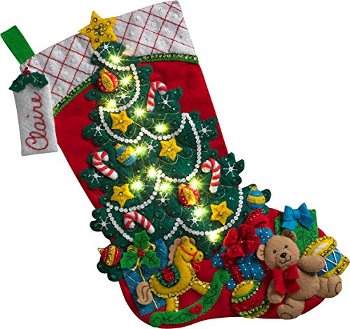 Bucilla Christmas Tree Surprise Stocking Kit