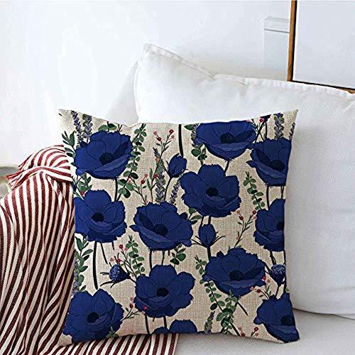 New-WWorld-Shop Kissenbezüge Muster Wiederholen Sie schöne Vintage-Stil Rose Farbe niedlichen Sommer botanischen Garten Ditsy rosa Fliesen Kissenbezüge