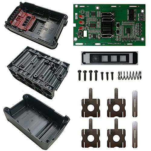 Varadyle Adecuado para EINHELL POWER X-CHANGE 18V 20V BateríA de Litio Carcasa de PláStico Placa de ProteccióN de Carga Carcasa de Caja de PCB