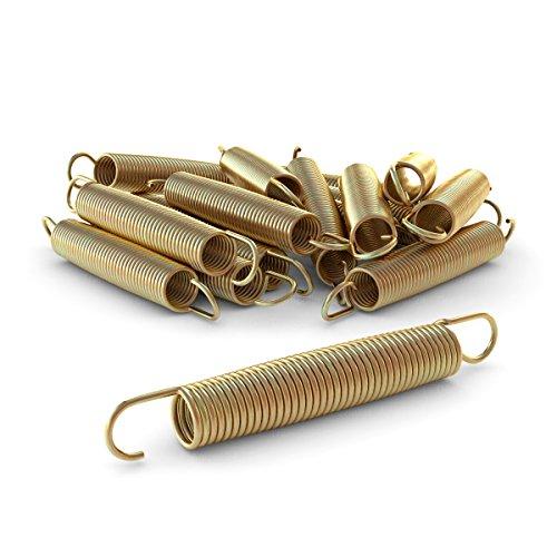 Ampel 24 - Lote de 12 muelles 178x24 mm para Camas elásticas de 430 a 490 cm | Material Reforzado