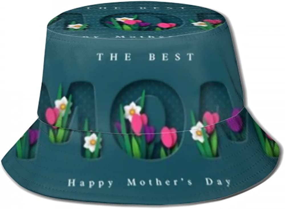 New popularity Indefinitely Sun Cap Happy Mothers Day Greeting Bucket Hat for Paper Card