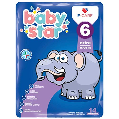 Baby Star - Pañales 6 extra 16-30 kg, 14 unidades