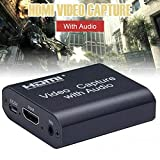 with Audio Game Recording Video Capture Card Adapter HDMI to USB 4K 1080P Loop Output Stereo Input Portable Audio Grabber