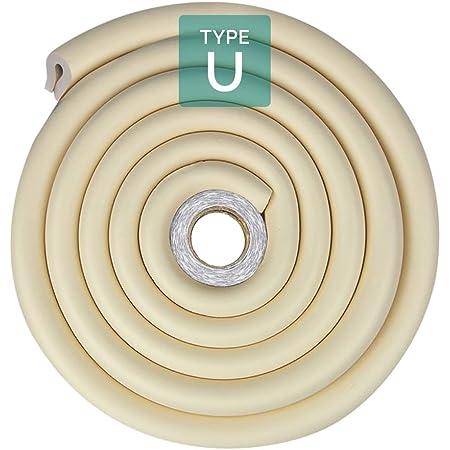 Elf Star U Shape Glass Table Edge Protectors Premium High Density Foam Baby Safety Bumper Guard 2X2 Meters Orange 13 FT