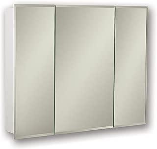 Jensen 255248X Tri-View Bevel Mirror Medicine Cabinet, 48