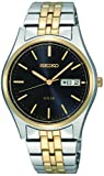 Seiko Mens Analogue Classic Solar Powered Watch with Stainless Steel Strap SNE034P1