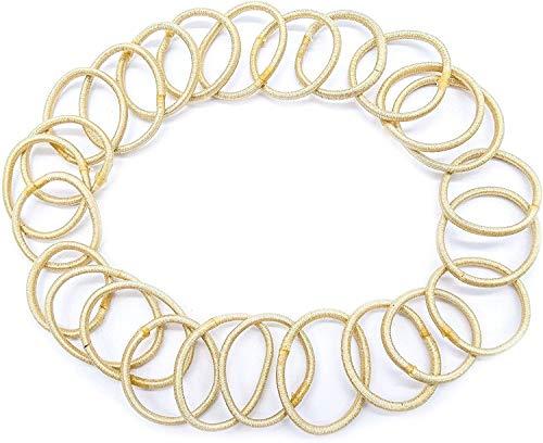 Lot de 24 élastiques à cheveux élégants sans accrocs - 2 mm d'épaisseur - 2 cm de diamètre - Blond