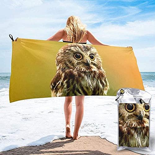 Toalla de Playa Toalla de baño de Moda, Linda, Exquisita impresión, Secado rápido, Toalla Liviana, súper Absorbente, Toalla sin Arena, Viajes, natación, Gimnasio, Yoga 80x