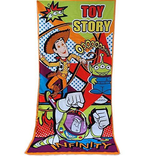 Lindo Mickey Toalla de Playa Toalla de baño Manta Suave Absorbente Transpirable Niños Niños Niñas Toalla de Playa Manta-Toy Story 1_About 70x140cm