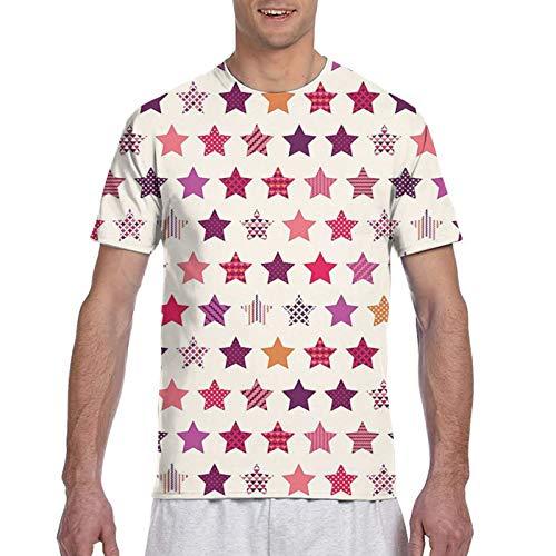 Haiyaner Verschiedene Arten von Sternformen Herren 3D All Print Graphic Premium T-Shirt M