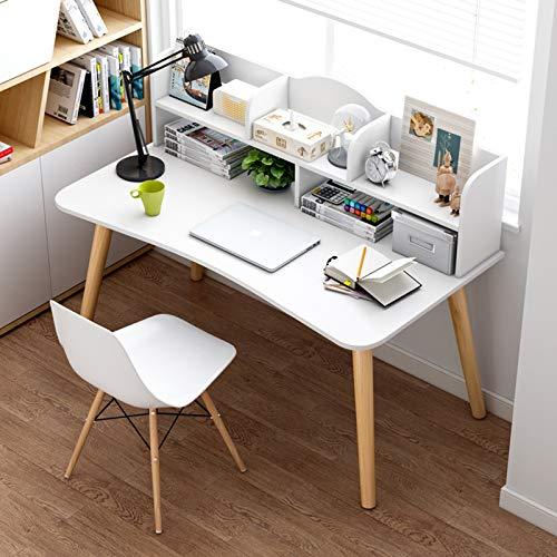 XIALIUXIA Escritorio De Ordenador, Mesa De Centro, Mesa De Oficina Moderna con Compartimento Abierto para Ordenador Mesa De Trabajo para Oficina Salón Estudio,B,120CM