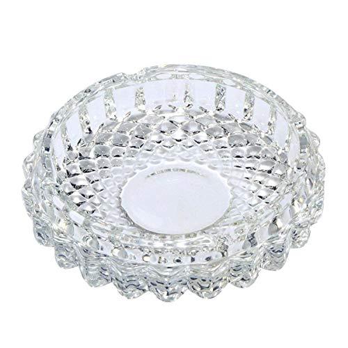 Uotyle Glas Aschenbecher Kristall Aschenbecher Rund Für Auto, Zimmer, Restaurants