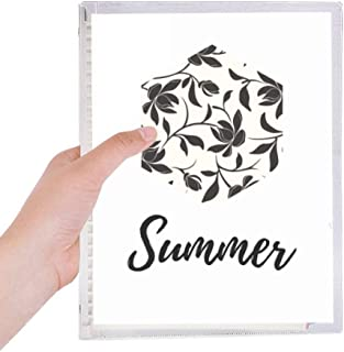 Flower Vine Drawing Art Plant Notebook Loose Leaf Diary Refillable Journal Stationery