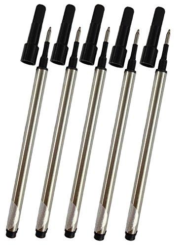 Gullor ricariche spirale vite ricariche adattano Jinhao roller penna, inchiostro nero, 0,7 millimetri, un insieme di 10 PCS