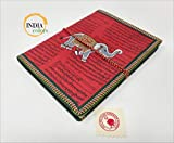 India Colors Regalo Agenda Album Fotos Diario Bloc Cuaderno Viajes Libro visitas. Modelo Grande. Hecho a Mano en India. Papel Artesanal algodón (Corinto)