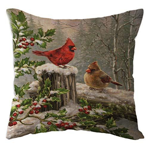 Kapian Weihnacht Kissenbezüge für Sofa & Bett Heimdeko Design, Schneemann Muster 18