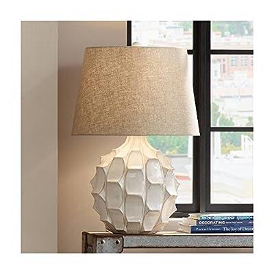 Cosgrove Round Mid-Century White Ceramic Table Lamp