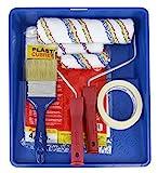 KIT Rodillo de pintura Antigoteo + Brocha + Mini rodillo y recambio + Cubretodo 20m² + Cubeta grande + Cinta de pintor