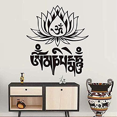 Etiqueta de la pared Popular Yoga Hechizo Etiqueta Vinilo removible Tatuajes de pared Sala de estar Dormitorio Muebles para el hogar Arte Mural 58 * 67Cm