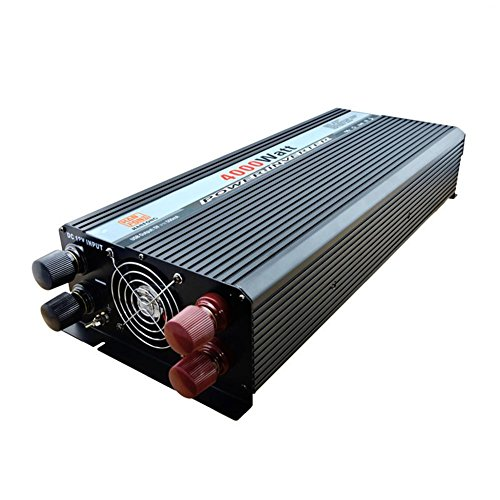 Convertisseur BQ Power Inverter 4000W DC 24V à AC 220V Transformateur tension de voiture Briquet de cigarette Chargeur de voiture USB (Noir)