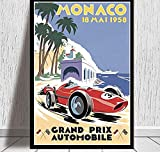 XQWZM Wall Art Picture Poster, 1958 bis 2006 Monaco Racing