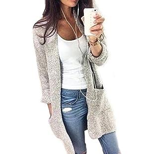 Kingwo Womens Knit Cardigan Womens Lady Casual Knit Sleeve Sweater Coat Cardigan Jacket (5XL):Interoot