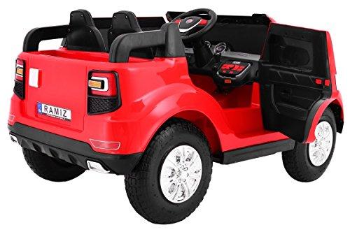 RC Auto kaufen Kinderauto Bild 4: BSD Elektro Kinderauto Elektrisch Ride On Kinderfahrzeug Elektroauto Fernbedienung - S8088 AIR Gepumpte Räder 2-Sitzer - Rot*