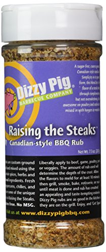Dizzy Pig BBQ Raising the Steaks Rub Spice - 7.3 Oz