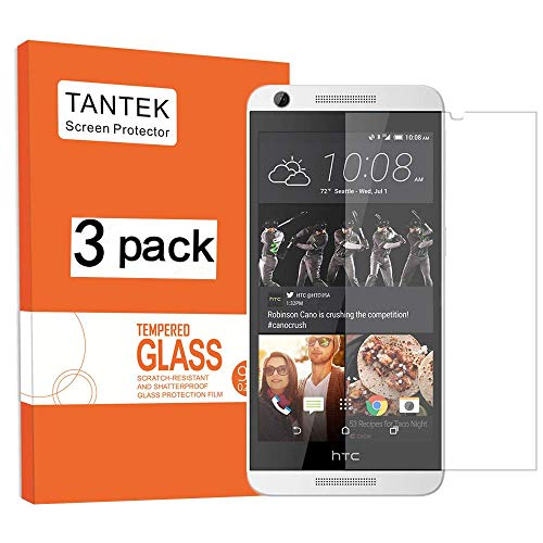 TANTEK [3-Pack] Screen Protector for HTC Desire 626s/626,Tempered Glass Film,Ultra Clear,Anti Scratch,Bubble Free,Case Friendly