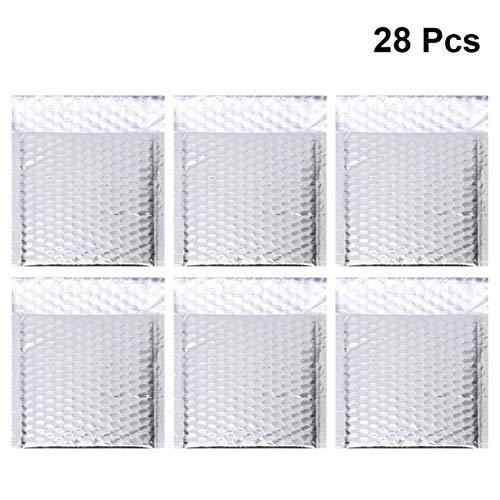 Healifty Sobres de Burbujas de Aluminio autoadhesivos Bolsas de Correo Paquetes de Embalaje Bolsas de Correo de Burbujas de Papel Bolsas de envío Bolsas de Suministros comerciales 28 Piezas
