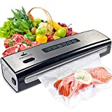 Vacuum Sealer Machine, meidong Food Saver Vacuum Sealer Machine Built in Air Sealing System w/Starter Kit, Dry & Moist Food Modes, Easy to Clean, Compact Design