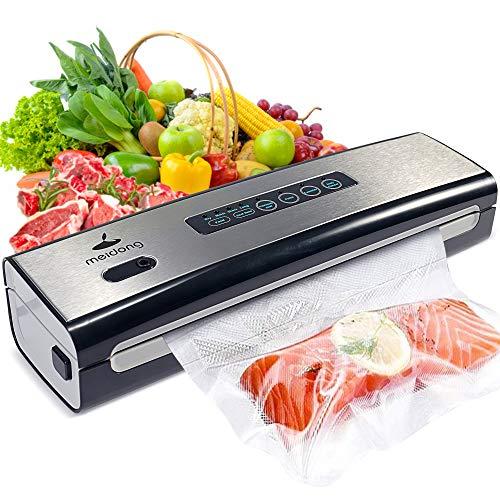 Vacuum Sealer Machine, meidong Food Saver Vacuum Sealer Machine Built in Air Sealing System, Dry & Moist Food Modes, Led…
