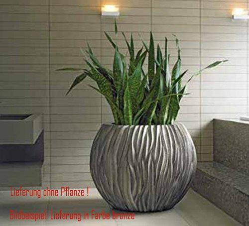 Bloempot River Bowl van kunststof, zon- en regenbestendig voor binnen en buiten, kleur brons Ø 120cm hoogte 90cm