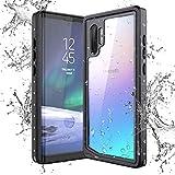 Yokata Funda Impermeable para Samsung Galaxy Note 10+ Plus, Carcasa Transparente 360 Grados Protección con Protector de Pantalla Antichoque Antigolpes Sumergible Resistente Al Agua Funda Móvil