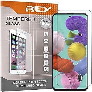REY skärmskydd för SAMSUNG GALAXY A51 5G, härdat glasfilm, premiumkvalitet, perfekt skydd för repor, paus, fukt, [Pack 3x]...