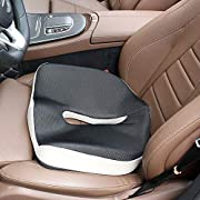 NIANPU Ergonomic Memory Foam Seat Cushion - Comfort Breathable Mesh Cover Cushion Provides Relief for Back Pain, Sciatica, Tailbone, Hip Shaping - Perfect for Car, Wheelchair, Office Chair