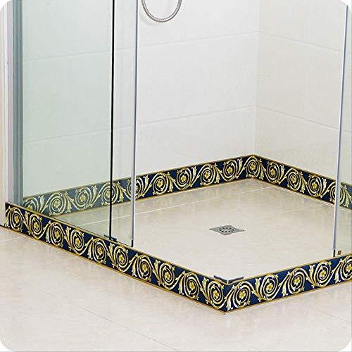PVC-stickers, zelfklevend, Europese, motief voetafdrukken, lijn, voor keuken, badkamer, tegels, muurstickers, woonkamer, waterdicht, 10 cm x 10 m