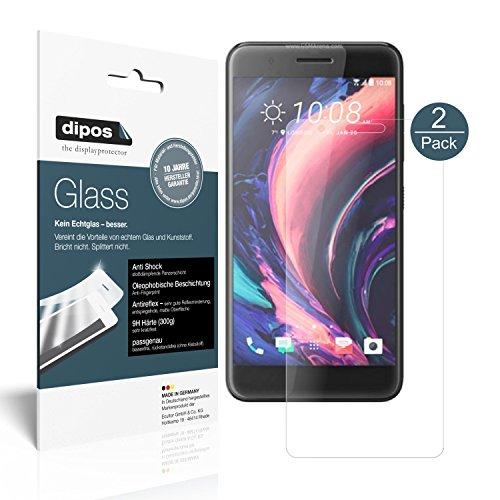dipos I 2X Panzerfolie matt kompatibel mit HTC One X10 Schutzfolie 9H Bildschirmschutz-Folie
