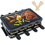 Raclette 8 Personas - Raclette Grill 8 Personas con 8 Mini Sartenes Raclette Grills Parrilla Parrillas Eléctricas 2 4 6 8 Raclette Grill Queso - 1300 W