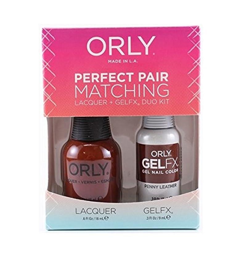 疎外カートレトルトOrly - Perfect Pair Matching Lacquer+Gel FX Kit - Penny Leather - 0.6 oz/0.3 oz