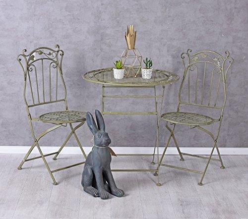 Historische Sitzgarnitur Garten Sitzgruppe im Jugendstil Tisch und Zwei Stühle AHH004 Palazzo...
