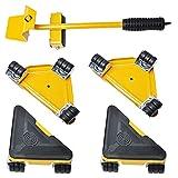 Elevador Muebles Pesados con 4 Deslizadores Kit de Herramientas de Muebles de Pesados de Máximo Carga 300KG/660 Libras para Mover sofás, Refrigeradores por Poweka (amarillo