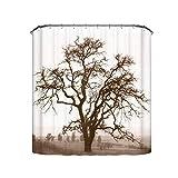remmber me Elegante Baum-Duschvorhänge, die Kunst-Entwurfs-Polyester-Mehltau-Beweis-Duschvorhang 60 x 72 Zoll malen