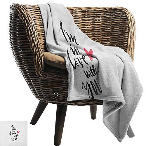 ZSUO zacht deken microvezel liefde, vogels in de regen met een paraplu Kleurrijke Valentijnsdag Romantische Illustratie Multi kleuren Gezellige en duurzame Fabric-Machine Wasbaar