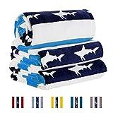CABANANA Plush Cotton Oversized Beach Towel - Quick Dry Velour...
