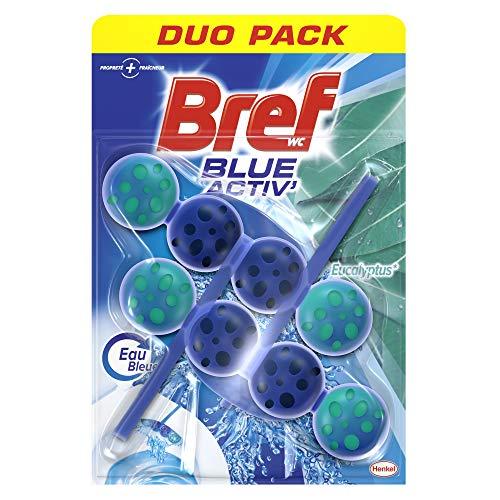 Bref WC Blue Activ Eucalyptus – 2 Blocs WC (2x50g) – Nettoyants WC