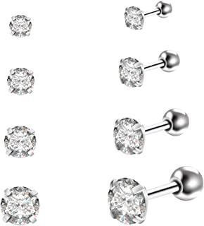 16g Bubble Body Piercing Zircon Gold Pvd Coated Surgical Steel Micro Labret Gauge