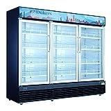 Dukers DSM-69R 69.4 cu. ft. Commercial Display Cooler Merchandiser Refrigerator