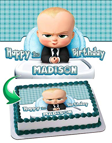 Baby Boss #2 Edible Image Cake Topper Party Personalized 1/4 Sheet